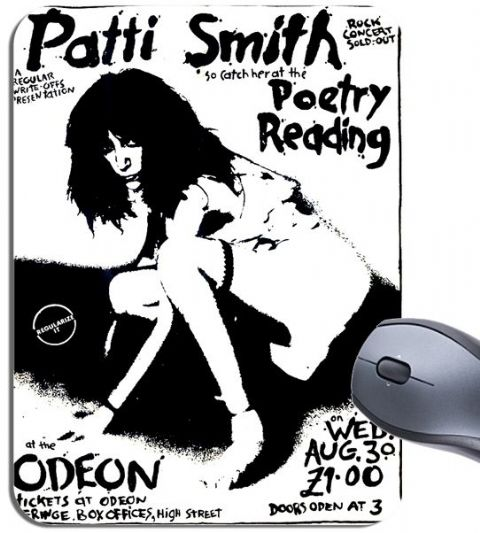 Patti Smith Gig Poster Flyer Mouse Mat. High Quality Punk Music Mouse Pad